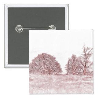 WINTER TREES 15 CM SQUARE BADGE