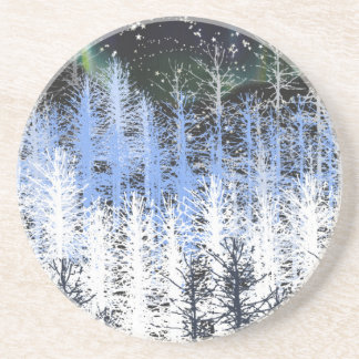 Winter trees coaster