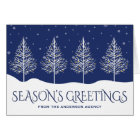 Winter Trees Corporate Business Holiday Greetings Card