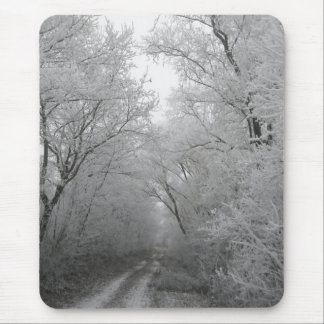 Winter Trees Covered in Frost Mouse Pad