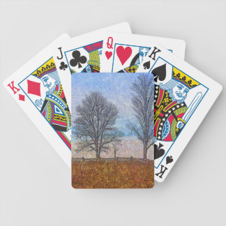 Winter Trees & Farm Fences Pasture Art Poker Deck