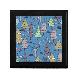winter trees gift box