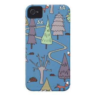 winter trees iPhone 4 case