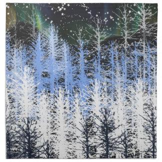 Winter trees napkin
