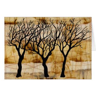 Winter Trees on Tea Bag Background Card