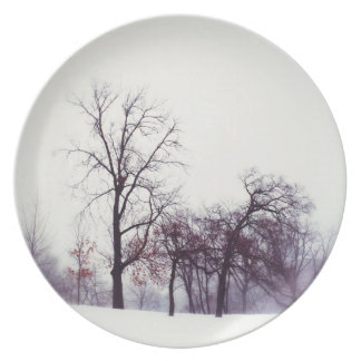 Winter Trees Party Plates