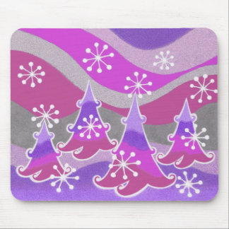 Winter Trees purple mousepad