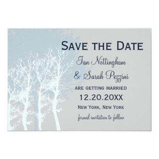 Winter Trees Save the Date Wedding 13 Cm X 18 Cm Invitation Card