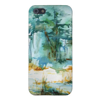 Winter Trees Watercolor Phone iPhone 5/5S Cases