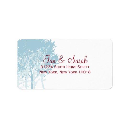 Winter Trees Wedding Address Label