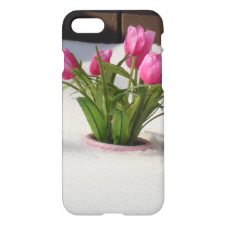 Winter Tulips in Snow Storm iPhone 7 Case