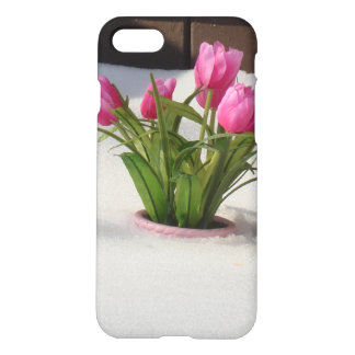 Winter Tulips in Snow Storm iPhone 8/7 Case