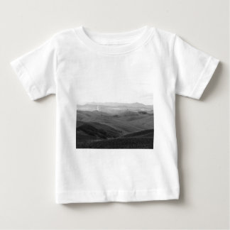 Winter Tuscany landscape with plowed fields Baby T-Shirt