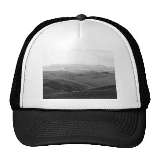 Winter Tuscany landscape with plowed fields Cap