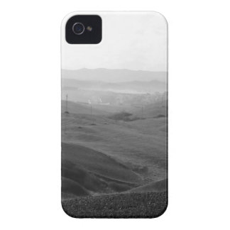 Winter Tuscany landscape with plowed fields iPhone 4 Covers