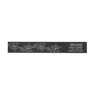Winter Twig Silver Garland Wrap Around Label