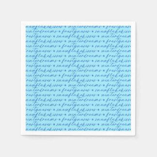 Winter Typography Paper Serviettes