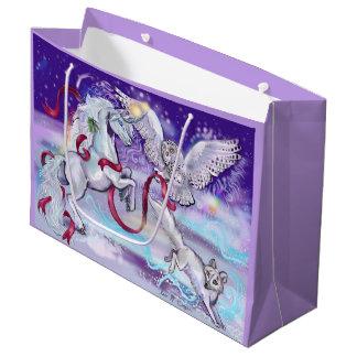 Winter Unicorn Fantasy Large Gift Bag