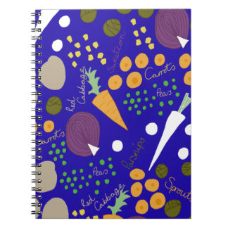 winter veg spiral notebook