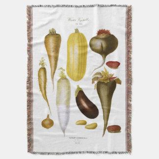 Winter Vegetables Throw Blanket