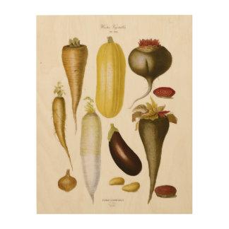 Winter Vegetables Wood Print