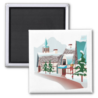 Winter Village at Christmas Magnet