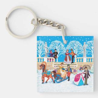 Winter walk key ring