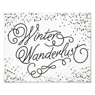 WINTER WANDERLUST   HOLIDAY ART PRINT PHOTO