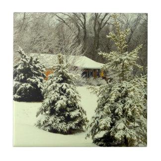 Winter Warmth Ceramic Tile