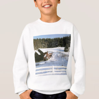 Winter Water Wheel Guildhall Vermont Sweatshirt