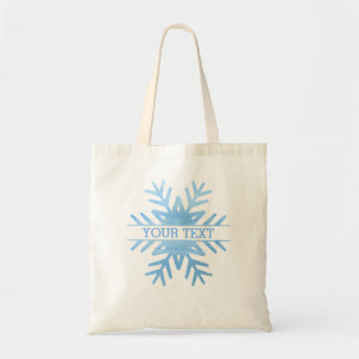 Winter Watercolor Holiday Snowflake Personalised Tote Bag