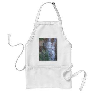 winter waterfall adult apron