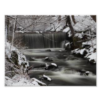 Winter Waterfall Photograph
