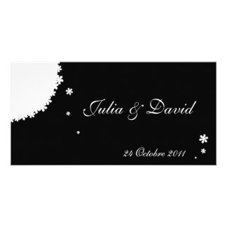 Winter wedding announcement photo card template