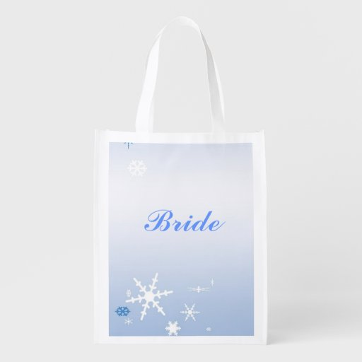 Winter Wedding Bridal Tote Grocery Bags
