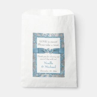 Winter Wedding Favor Bag | Winter Wonderland Blue Favour Bags
