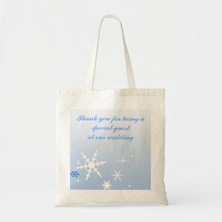 Winter Wedding Favor Budget Tote Bag