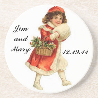 Winter Wedding Favor Coaster