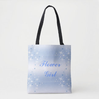 Winter Wedding Flower Girl Tote Bag