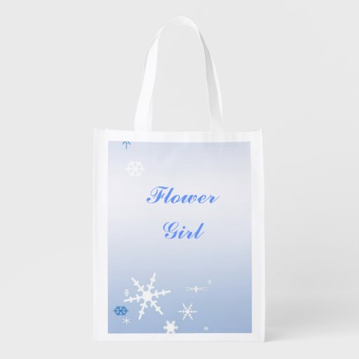 Winter Wedding Flower Girl Tote Market Tote