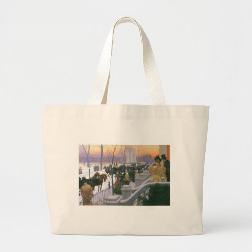 Winter Wedding in Washington Square c. 1897 Tote Bags