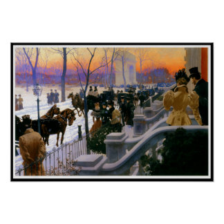 Winter Wedding In Washington Square Poster