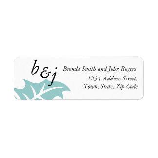Winter Wedding Invitation Return Address Labels