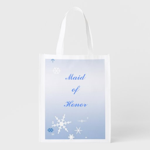 Winter Wedding Maid of Honor Tote Market Tote
