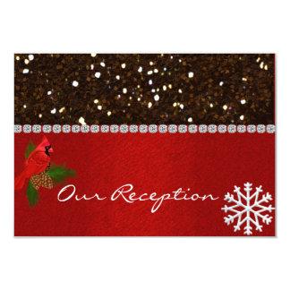 WINTER  WEDDING RECEPTION CARDS  MATCHING INVITATI 9 CM X 13 CM INVITATION CARD