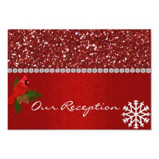 WINTER WEDDING RECEPTION CARDS  MATCHING INVITATIO 9 CM X 13 CM INVITATION CARD