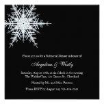 Winter Wedding Rehearsal Dinner Invitation