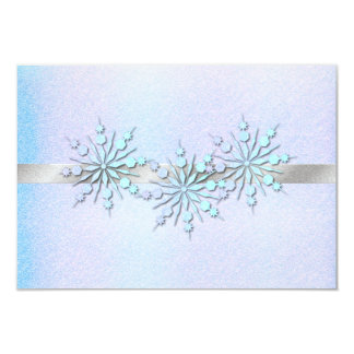 Winter Wedding Rehearsal Dinner RSVP Card
