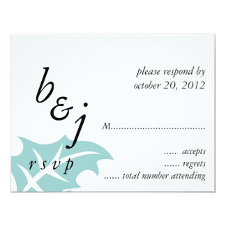 Winter Wedding RSVP Cards Blue White