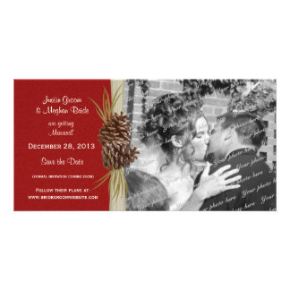 Winter Wedding Save the Date Photo Photo Cards